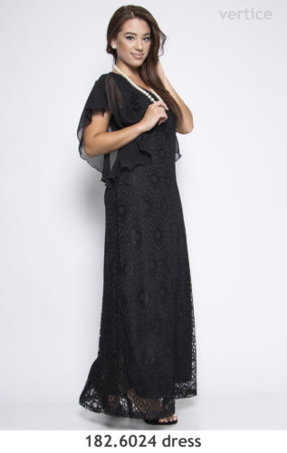 Maxi Lace Dress Plus Size winter 2019