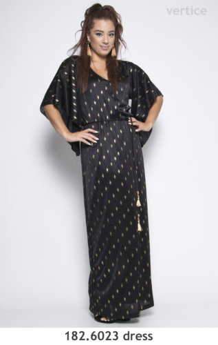 Maxi Saten Dress Plus Size 2019