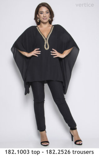 top and trousers plus size