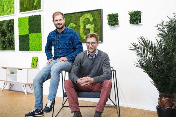 Die Gründer Lukas Dinter und Niklas Guggenberger