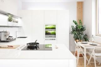 Die Abbildung der Firma Agrilution zeigt den PlantCube, das Kleinstgewächshaus für die Salatzucht in der Wohnküche.