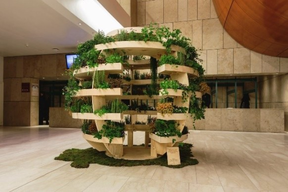 Bepflanzter Growroom von IKEA als Austellungssttück in Kopenhagen