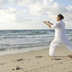 Practicing Qi Gong (氣功)