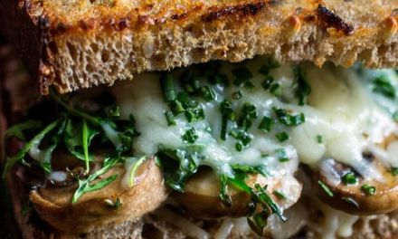 Roasted Mushroom and Gruyère Sandwich