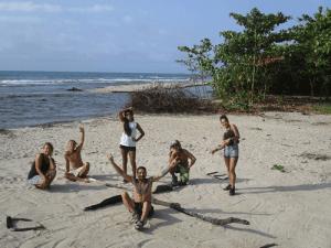Casa Brujula workers at the Beach
