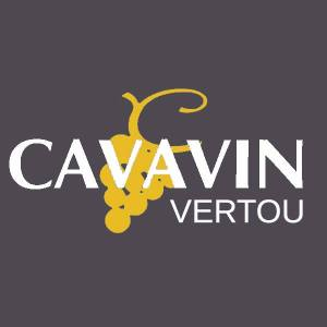 Logo de la chaîne de magasin Cavavin avec spécification Vertou