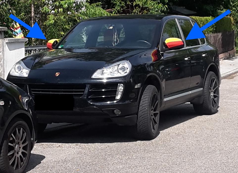 Deutschland-Porsche falsch beflaggt