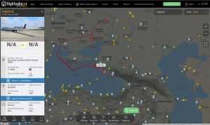 Скриншот траектории полета БПЛА