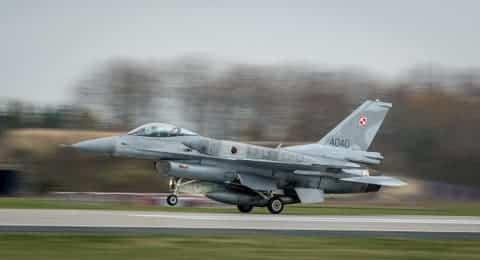 Истребитель F-16 ВВС Польши