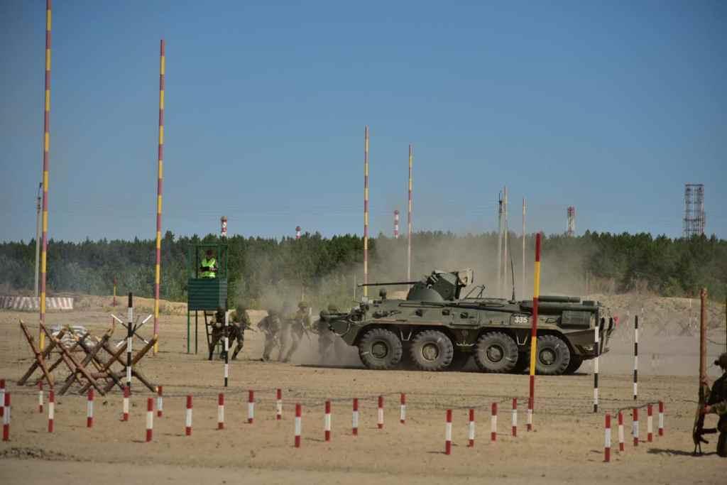 Сбор подразделений штурма и разграждения инженерных войск ВС РФ