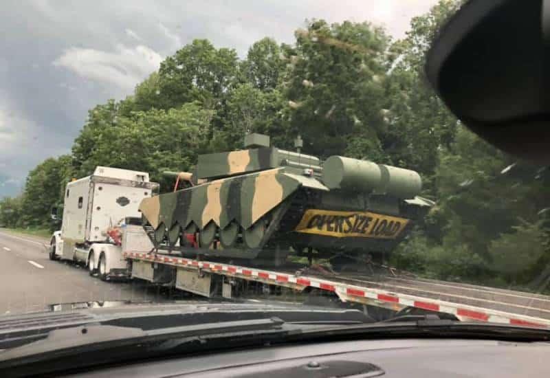 Макет ОБТ Type 99 направляется на базу армии США