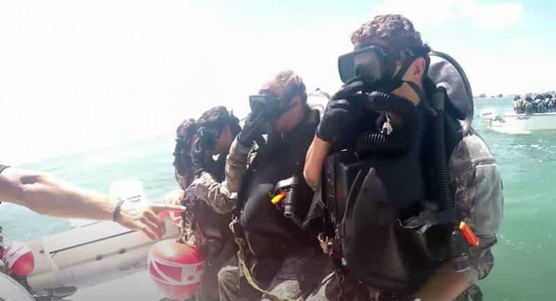 подводная тренировка американских «зелёных беретов»