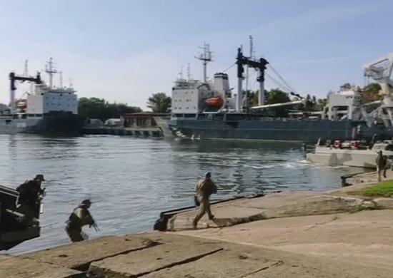 пункт базирования кораблей БФ захвачен группой условных террористов