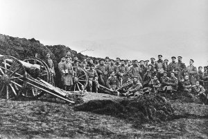 Русские артиллеристы на Балканах