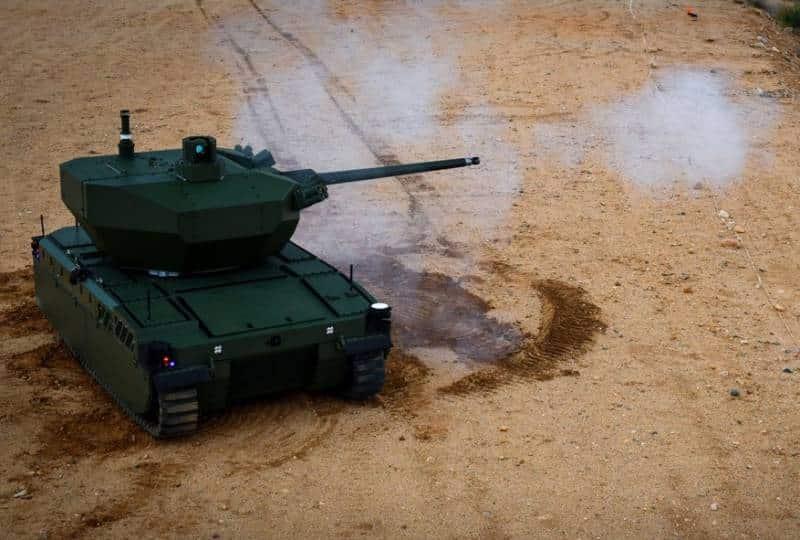робокомплекс EMAV с 30-миллиметровой пушкой
