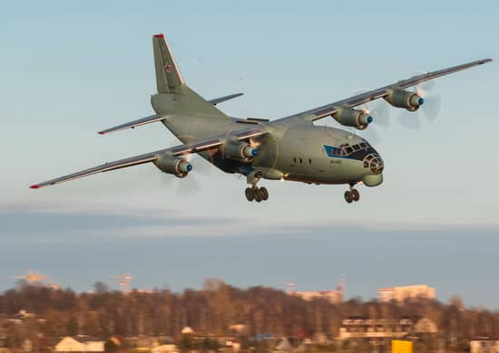 учебно-тренировочный полёт самолета Ан-12