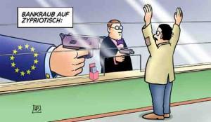 Bankiers stelen spaartegoed Cyprische burgers