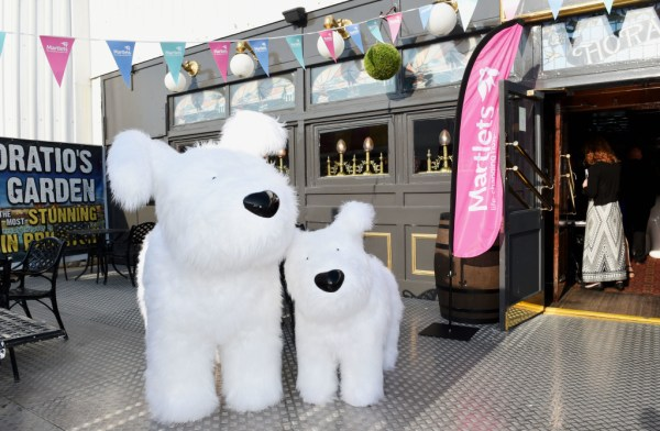 Not being shy taking photographs at a Snowdogs by the Sea event.