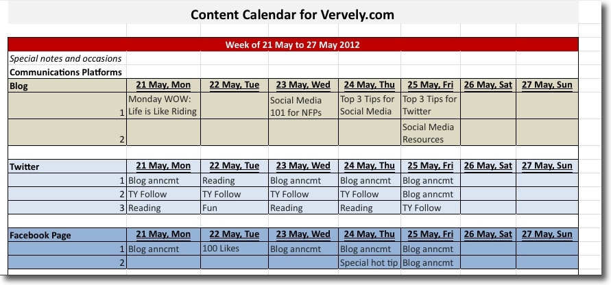 Content Calendar  Tips And Tools  Vervely