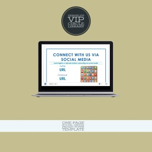 One Page Social Media Promo Template