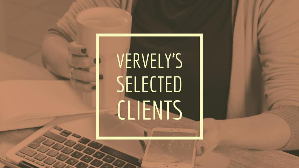Vervely's Selected Clients