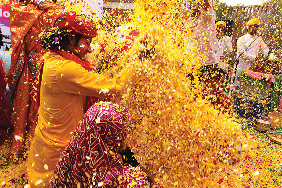 Delhi_Phoolon Ki Holi_Holi with flowers EDITORIAL