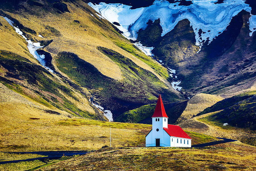 Icelandic church in Vik, South Iceland