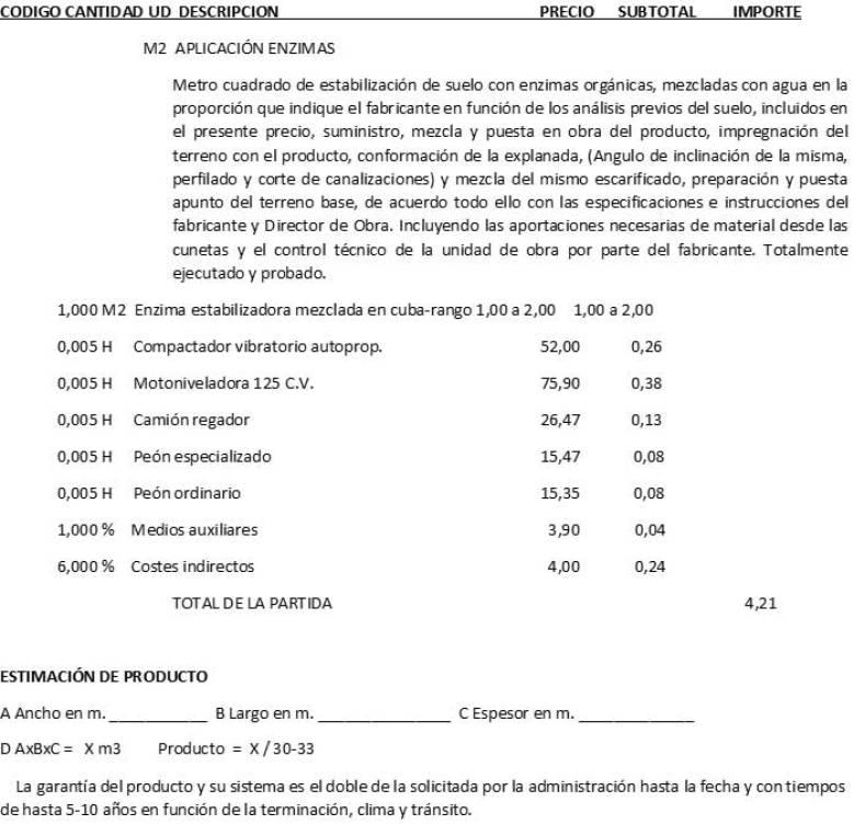 Ejemplo Aplicación PERMA-ZYME
