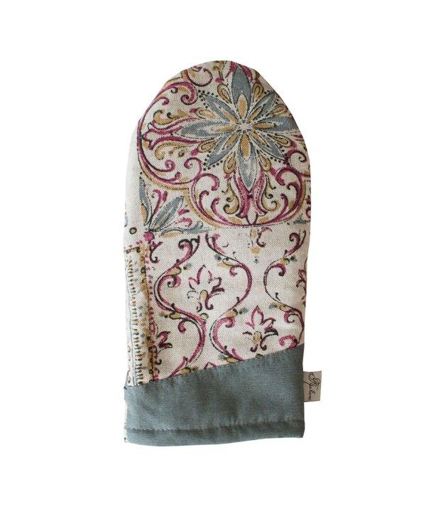 veryandvery cotton oven mitt gray mosaic