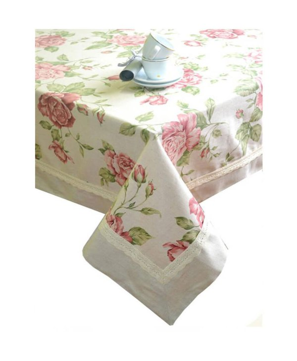 VeryAndVery Pink Rose cotton tablecloth