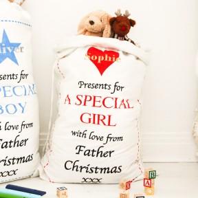 personalised christmas sack