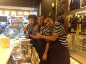 Pablo, Gabriele y Gorka