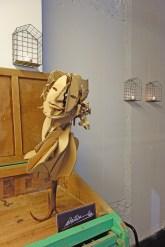 Figuras de madera y cartón del escultor francés Sebastien