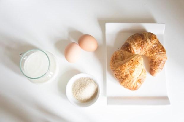Recette de croissant perdus - les ingrédients