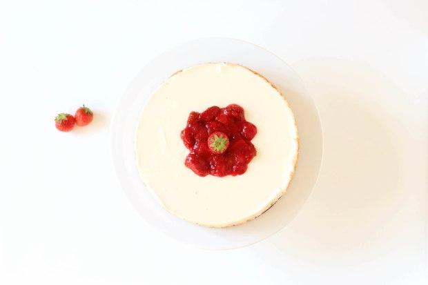 bavarois cheesecake à la fraise