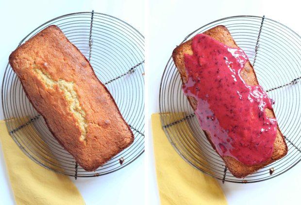 cake coco et glaçage aux mûres - coconut cake and blackberries icing