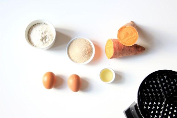 gaufres patates douces - sweet potatoes waffle