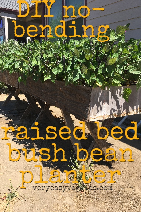 Upcycled Table DIY Elevated Planter