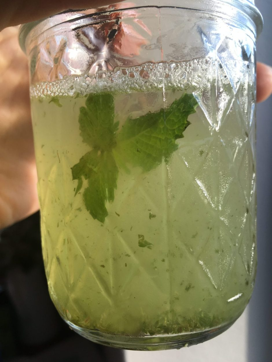 beat the heat with this summer drink recipe that combines limeade with pureed fresh mint.