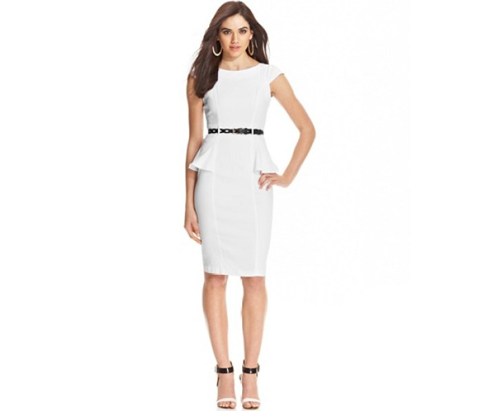 Macy's - XOXO Junior's Cap Sleeve Peplum Sheath Dress
