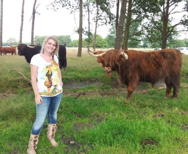 Met een Schotse Hooglander, augustus 2012