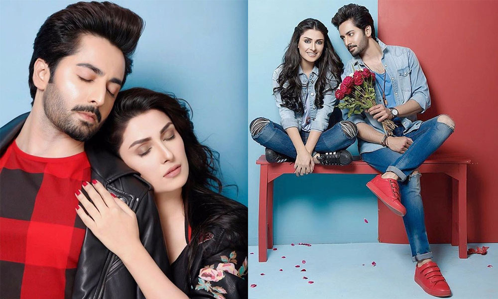 Ayeza Khan Danish Taimoor Valentine 2017 Photoshoot