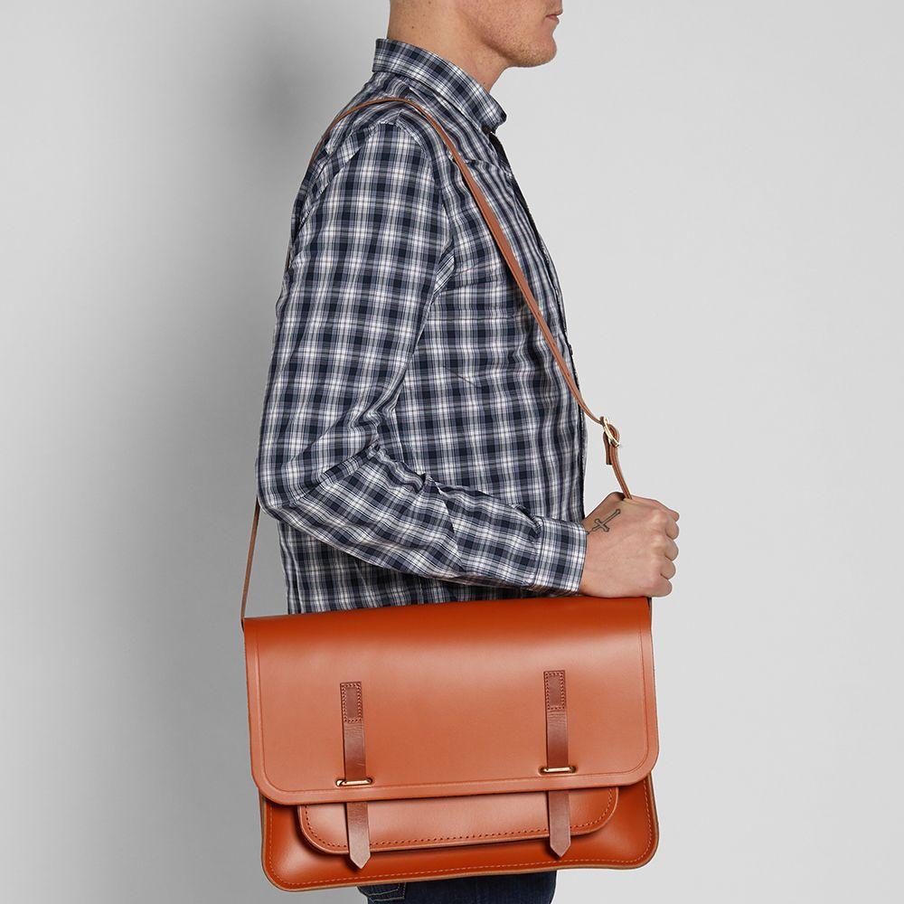 the cambridge satchel company bridge closure bag amber tan homme sac