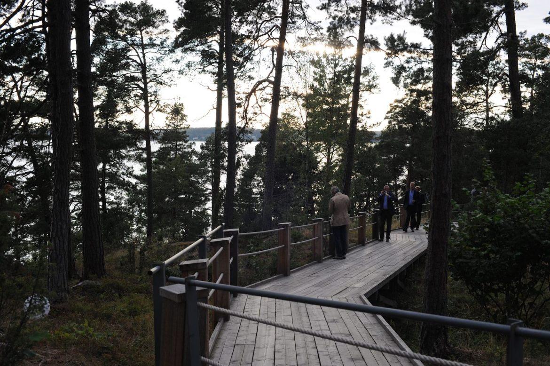 lancement VOLVO XC90 2014 Stockholm artipelag chemin
