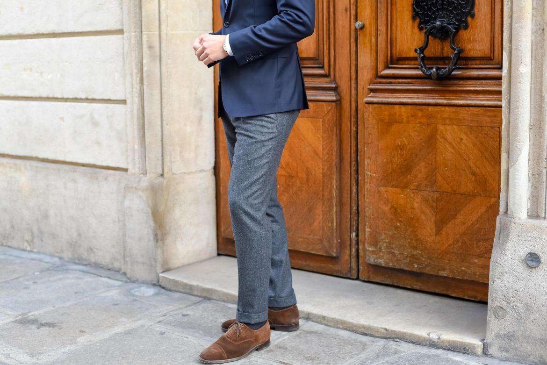 bernard zins pantalon flanelle blazer