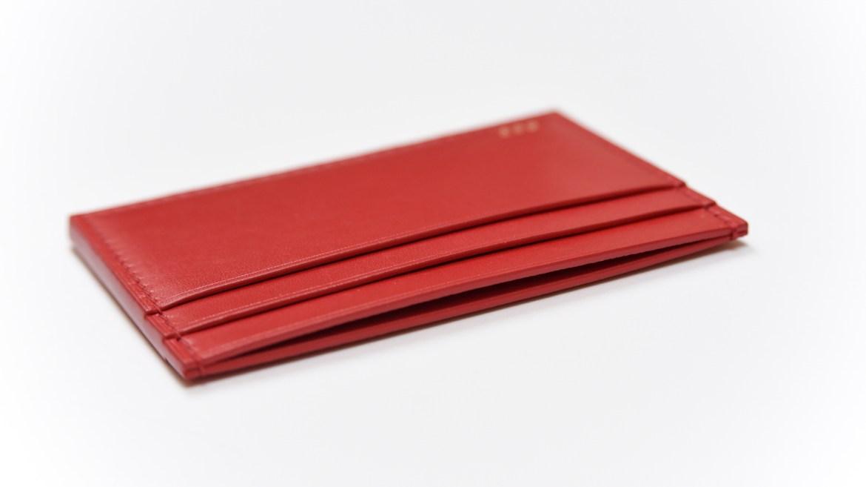 porte carte cuir rouge