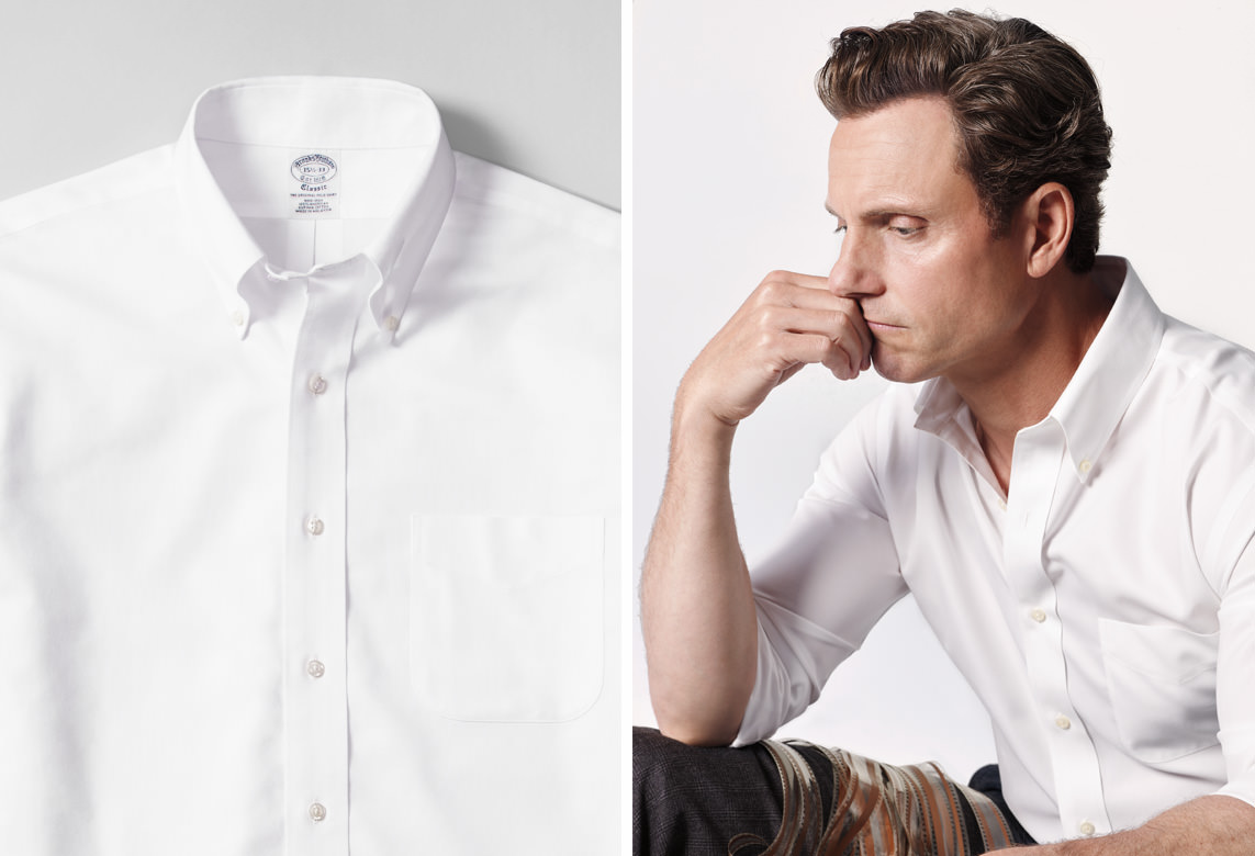 col boutonne chemise oxford