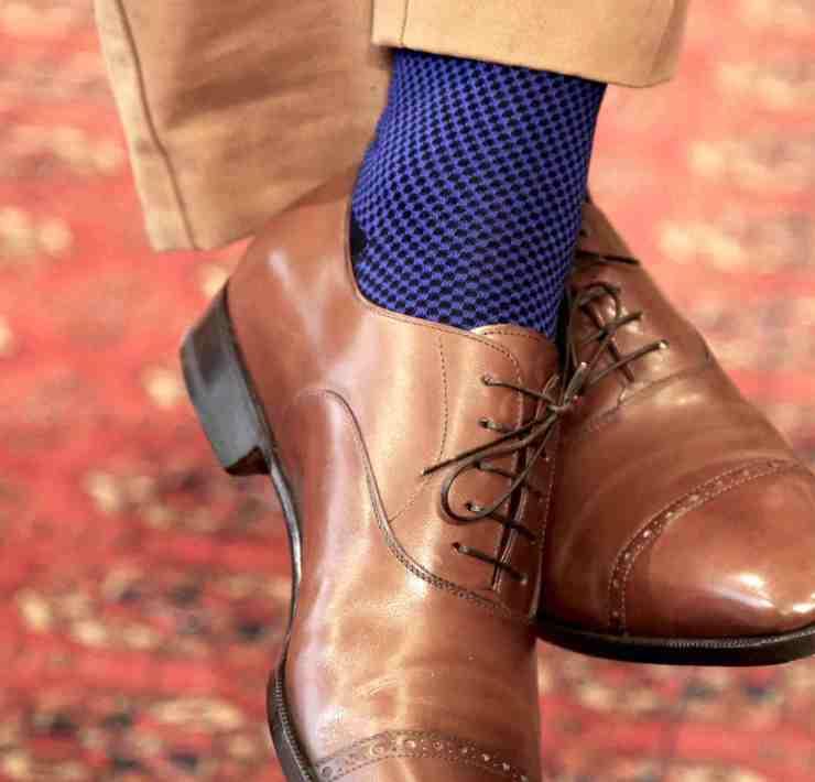 chaussette contention mazarin bleu marine roi pied
