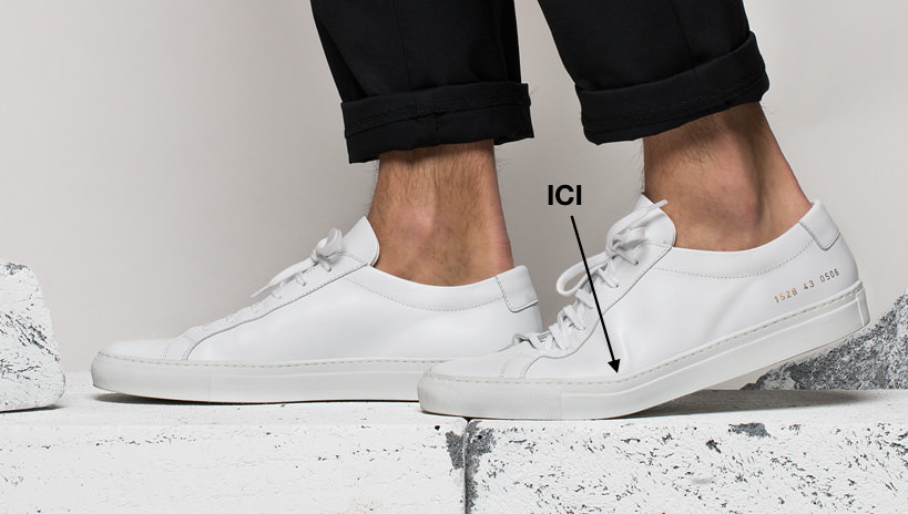 Common Projects sole failure