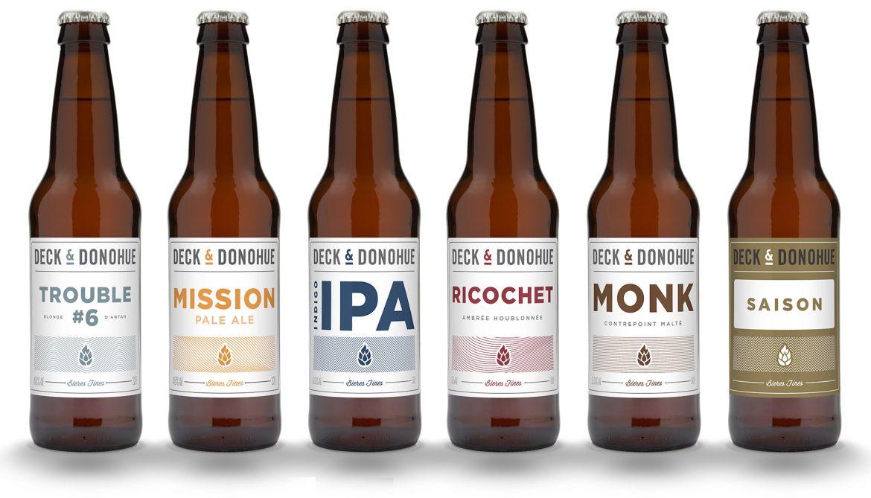 Deck Donohue biere artisanales bouteilles